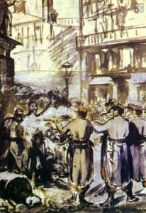 le-barricate-edouard-manet