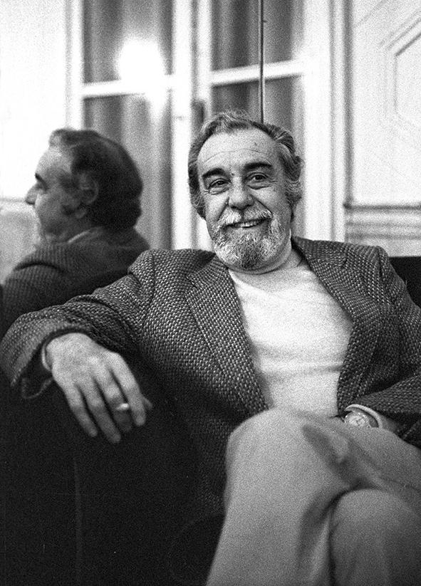 Fernando Rey, fotografato al grand Hotel de milan, Milano 1980