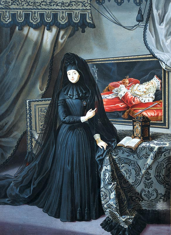 The_Dowager_Electress_Palatine_in_mourning.jpg (584×800)