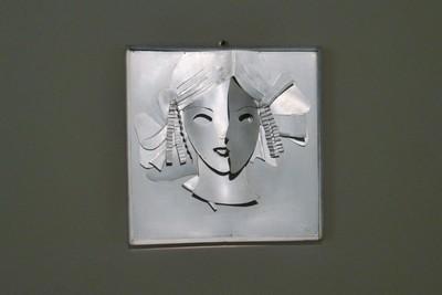 Regina_Ritratto di ragazza_1935_1936_Lamiera di alluminio