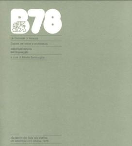 Catalogo della Biennale di Venezia del ' 78 a cura di Mirella Bentivoglio