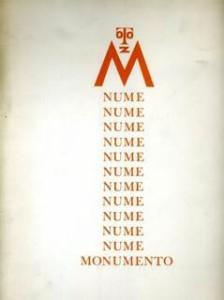 """Opera per la mostra """" Il Non Gruppo"""" del 2004: """" Monumento"""" - 1966"""