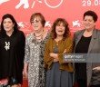 "VENICE, ITALY - SEPTEMBER 05:  (L-R) Rossella Canaccini, Daniela Santerini, 	 Wilma Labate and Viviana Tacchella attend ""Goodbye Saigon (Arrivederci Saigon)"" photocall during the 75th Venice Film Festival at Sala Casino on September 5, 2018 in Venice, Italy.  (Photo by Eamonn M. McCormack/Getty Images)"