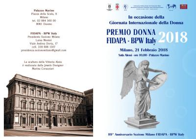 Premio Donna2018 Pagine esterne