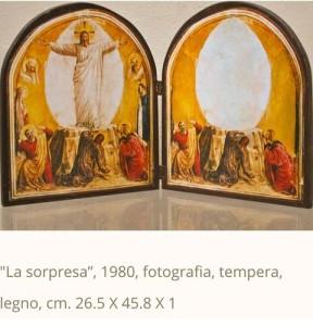 """La sorpresa""""  foto e tempera su legno - 1980"""