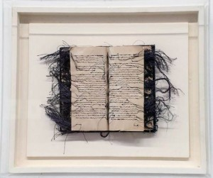 Maria Lai - Libro cucito - 1978 ( collezione Garrera) Artista presente alla Bienbsle del 1978