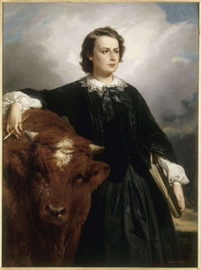 Rosa_Bonheur_with_Bull_,_by_E_L_Dubufe