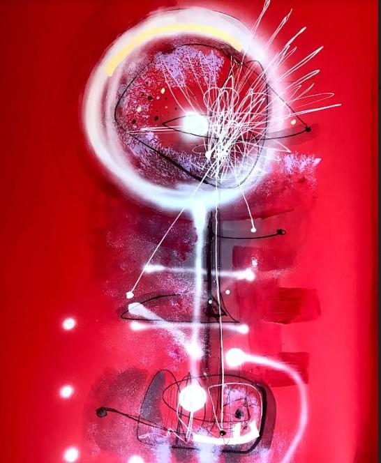 """di Paola Giordano  Titolo: """"METROPOLITAN FLOWER """"-100x80-tecnica mista su carta"""