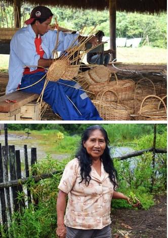 1) preparazione cesti natalizi 2( donna alle prese con lavori agricoli